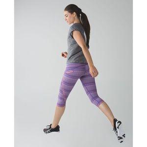 Lululemon Run: Top Speed Crop Space Dye Twist Iris